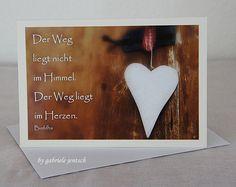 "Karte+Grüße+Grußkarte+""weißes+Herz""+von+PHOTOGLÜCK+auf+DaWanda.com"