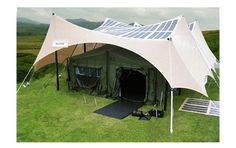 Holy crap, this is perfect for festival season! Military Solar Application | Power Shade - PowerFilm Solar