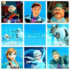 """Disney''s """"Frozen"""" characters!"""