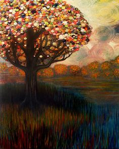 Love it! Has a little Van Gogh and Monet inspiration mixed in with modern art.  Monica Furlow- Button Tree 0001