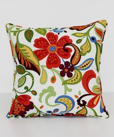 Look at this Wildwood Garden Square Throw Pillow on #zulily today!