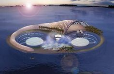 """Hydropolis, the world's first underwater luxury resort, brings new meaning to the """"ocean-view room."""" Situated 66 feet below the surface of the Persian Gulf, Hydropolis features 220 guest suites. Reinforced by concrete and steel, its Plexiglas walls and bubble-shaped dome ceilings offer sights of fish and other sea creatures. I would love to visit Dubai just to see the fantastic architecture! #dubai #uae"""