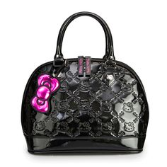Hello Kitty Black Patent Embossed Tote Bag