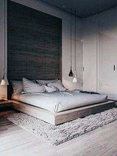 Stunning Minimalist Modern Master Bedroom Design Best Ideas - Home Design Modern Minimalist Bedroom, Modern Master Bedroom, Modern Bedroom Decor, Master Bedroom Design, Contemporary Bedroom, Bedroom Furniture, Bedroom Ideas, Trendy Bedroom, Master Bedrooms