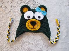 Baylor Bear Crochet Hat // How cute! #SicEm