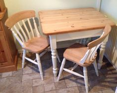 Up cycled table and chairs thanks to Deja Vu Upcycle at the Dolphin Centre Poole. Frenchic good product expert advise. Just the dresser to go now, watch this space.