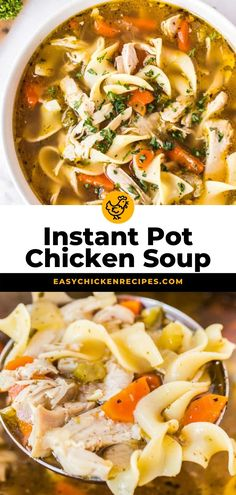 This Instant Pot Chicken Noodle Soup is a fool proof pressure cooker recipe that'll satisfy the hungriest of bellies! Best of all it is ready to serve in just 30 minutes! Chicken Soup Recipes, Chicken Noodle Soup, Chicken Soups, Turkey Recipes, Instant Recipes, Instant Pot Dinner Recipes, Catfish Stew, Pressure Cooking Recipes, Instant Pot Pressure Cooker
