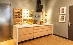 cozinha armário madeira clara
