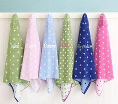 Star & Dot Bath Wraps kids bathroom bathing towels