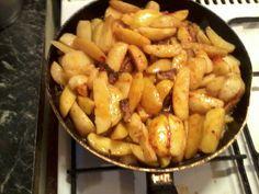 Szalonnás serpenyős burgonya recept