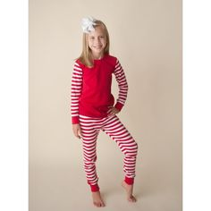 39d8e0cb90 2017 NEW Unisex Red and White Long Sleeve Striped Pajamas - 1st Winter Pre- Order