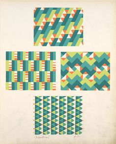 Geometric compositions from the NY public library archive