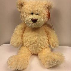 "Animal Alley Gund FUZZLEY Teddy Bear Plush 13"" Soft Fuzzy Cream Stuffed Animal #AnimalAlleybyGund"