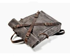 Leather Canvas Backpack (7) Canvas Backpack, Laptop Backpack, Bradley Mountain, Travel Bags, Backpacks, Leather Bag, Outfits, Travel Handbags, Suits