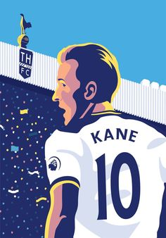 Art of Harry Kane by tottenhan Hotspur Football Art, Sport Football, Harry Kane Wallpapers, Messi, Tottenham Hotspur Wallpaper, Dele Alli, England Players, Tottenham Hotspur Football, Sea Wallpaper