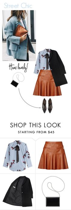 """Street Chic in light blue and cognac"" by cinnamonrose30 ❤ liked on Polyvore featuring Marc Jacobs, Joie, Coliàc Martina Grasselli and Nine West"