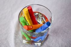 How to create WET Chalk drawings. Try dissolving sugar in the water before soaking the chalk for extra bright colors. These drawings do not wash off as easily as dry chalk drawings - wet chalk is harder to wash off because it's stickier. The chalk runs out very easily, so use all you can and keep a good supply on hand!  Lots of good ideas here.