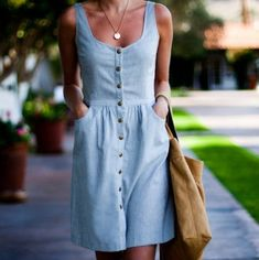 denim dress, pretty sure it is emersonmade