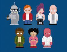 Futurama Characters  Cross Stitch PDF Pattern by pixelpowerdesign, $6.00
