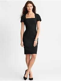 Banana Republic LBD...so perfect, wish it was some other color.  Can't really wear black to my son's wedding, I guess.