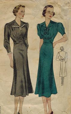 1930s Simplicity 2526 Vintage Sewing Pattern by midvalecottage, $25.00
