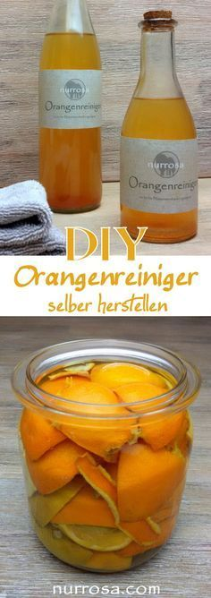 Simply make orange cleaners yourself I don& know how many plastics . - Simply make orange cleaners yourself I don& know how many plastic bottles with cleaning agent - Diy Cleaning Products, Cleaning Hacks, Cleaning Supplies, Orange Cleaner, No Waste, Cleaning Agent, How To Clean Makeup Brushes, Plastic Waste, Natural Make Up