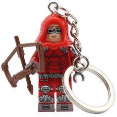 POGO Red Arrow Building Blocks Key Chain Single Sale Loki Captain America DC Marvel Super Hero Keychain Brick Toys  #Affiliate