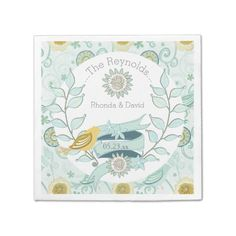 Shop Custom Whimsical Blue Floral Wedding Paper Napkins created by weddingsareus. Wedding Paper, Floral Wedding, Monogrammed Napkins, Wedding Napkins, Anniversary Parties, Paper Napkins, Whimsical, Blue, Wedding Ideas