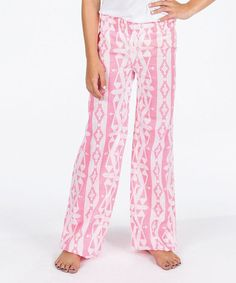 Look at this Pink Tribal Print Pants on #zulily today!