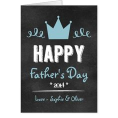 Blue Rustic Chalkboard | Happy Father's Day Card