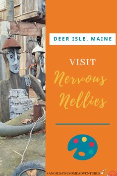 Visit Nervous Nellies Pin with a sculpture to the left side Deer Isle Maine, Stonington Maine, East Coast Travel, Cheap Places To Travel, Acadia National Park, Road Trip Usa, Places Around The World, New Hampshire, Travel Usa