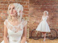 Vintage inspired wedding dress designer in London, Dana Bolton