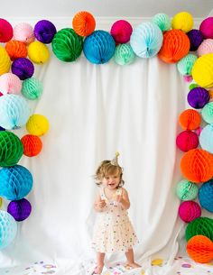 "Confetti-Filled First Birthday Party Confetti-filled Fun First Birthday Party - great ideas, ""games"" and decor!Confetti-filled Fun First Birthday Party - great ideas, ""games"" and decor! Ball Birthday, Rainbow Birthday Party, Rainbow Theme, Birthday Balloons, First Birthday Parties, First Birthdays, Birthday Kids, First Birthday Party Decorations, Rainbow Parties"