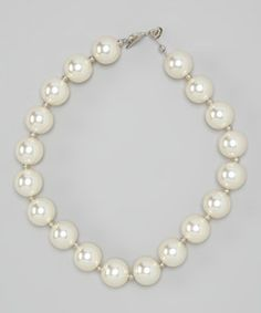 Love this Diva Daze Pearl Bead Necklace by Diva Daze on #zulily! #zulilyfinds