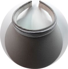 Gray Mid Size Clip On Brim & Metallic Silver Band sun visor
