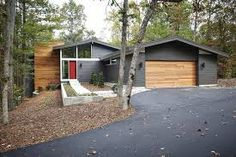 mid century modern exterior paint colors - Google Search