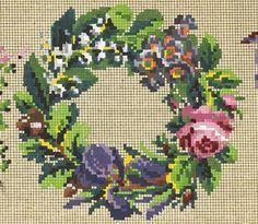 Pretty Little Berlin WoolWork Wreath Pattern