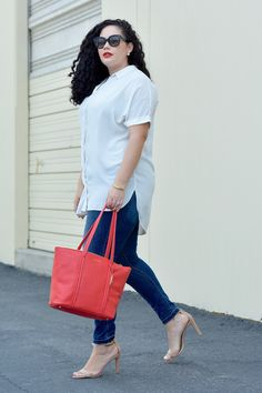 How to make simple outfits stand out via Girl With Curves