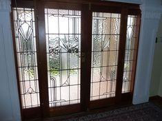 Love the sidelights Leadlight Windows, Art Deco Door, Glass Ceramic, Window Design, Texture Art, Stained Glass, Glass Art, New Homes, Glass Splashbacks