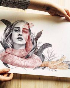 Likes, 36 Comments - Naranjalidad ¦Madrid¦ Beatriz (Naranjalidad . Art And Illustration, Portrait Art, Portraits, Self Portrait Drawing, Art Flash, Gcse Art Sketchbook, Sketchbooks, Inspiration Artistique, Ap Art