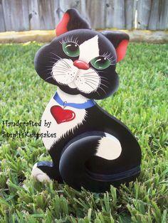 Handpainted Kitty par stephskeepsakes sur Etsy, $14.95