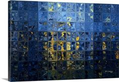 Mediterranean Blue. Tiles Abstract Art