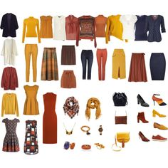 Autumn Capsule Wardrobe in Navy, Rust, Mustard, and Ivory by tracy-gowen on Polyvore featuring мода, WearAll, Dorothy Perkins, G2Choice, Etro, Fat Face, STELLA McCARTNEY, Banana Republic, Chicwish and Planet