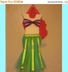Check out this item in my Etsy shop https://www.etsy.com/listing/173103958/sale-princess-mermaid-tutu-hair-bow