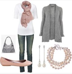 such a classic color combo.  pink and gray.