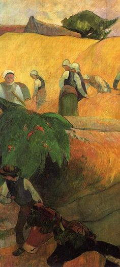 Paul Gauguin - Haymaking detail