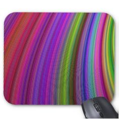 Happy spring stripes mouse pad $12.10