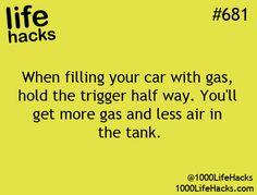 Pumping gas hack