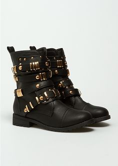 Stud Strap Combat Boots | Fashion Boots | rue21