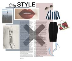 """""""City style"""" by danike ❤ liked on Polyvore featuring ASOS, Topshop, Gianvito Rossi, T By Alexander Wang, Linda Farrow, Dolce&Gabbana and GE"""